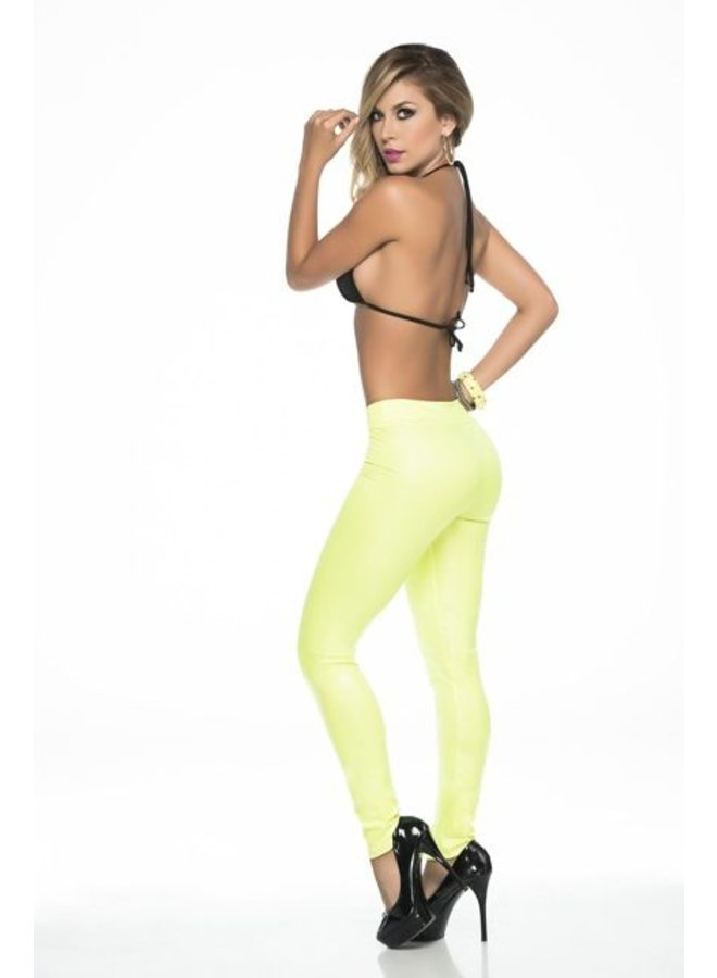 Glow in the dark legging (geel)