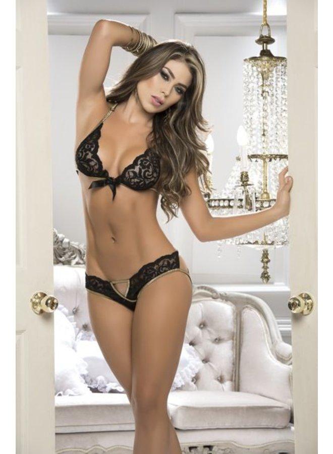 Zwarte lingerie set