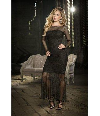 Zwarte jurk (2-delig)