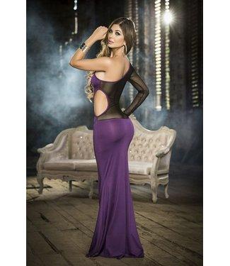 Espiral Lingerie Paarse lange jurk