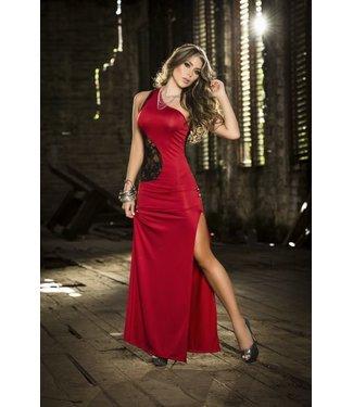 Rode jurk met kant