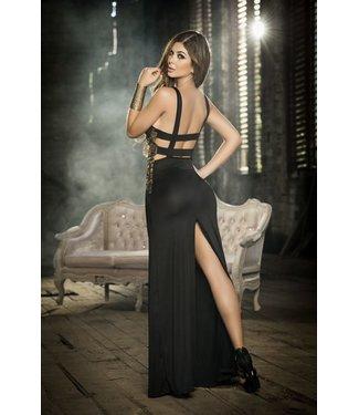 Lange jurk (zwart/goud)