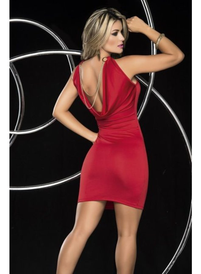 Rode mini-jurk