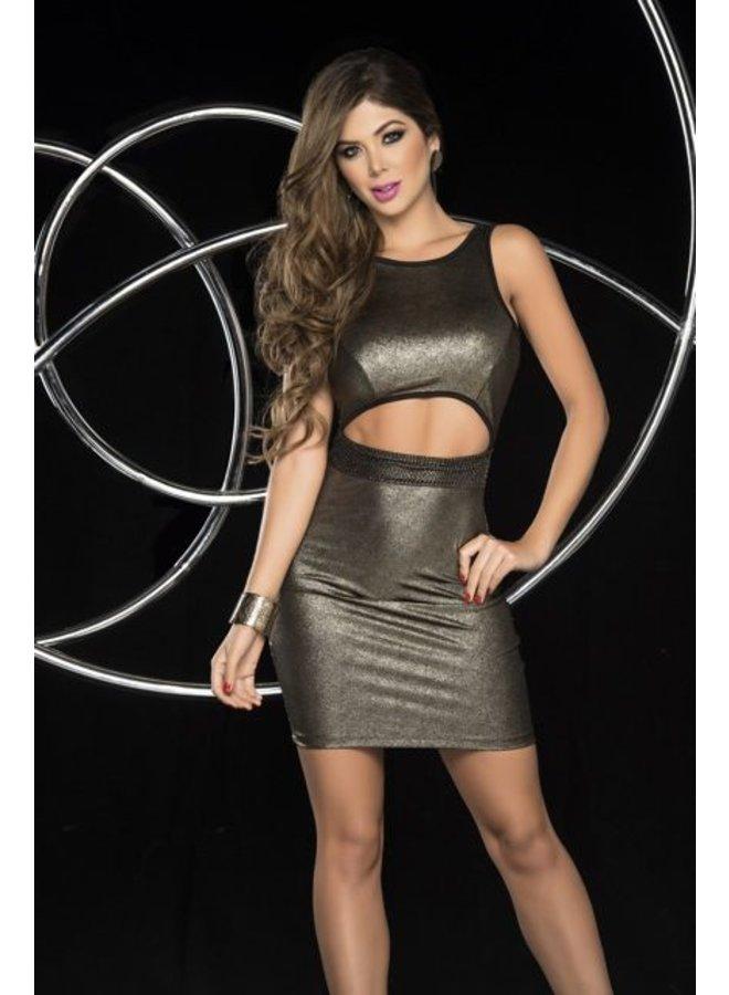Brons/goud kleurig jurkje