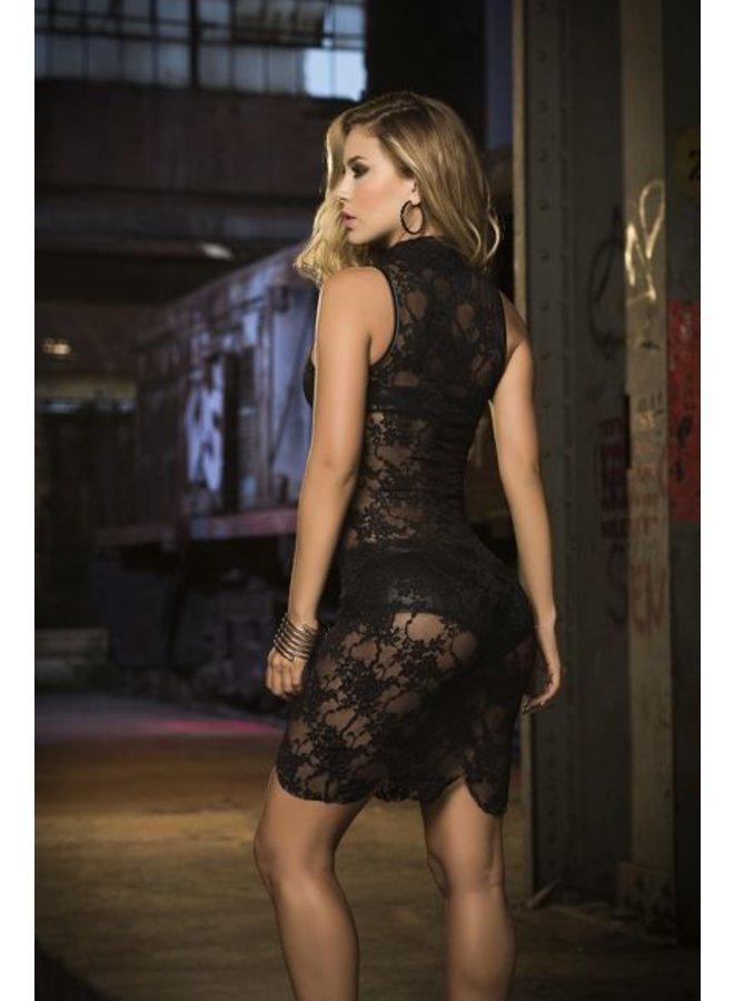 Fonkelnieuw Zarte kanten jurk (3-delig) - ClassyWear XB-09