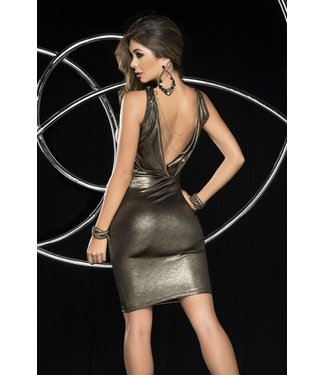 Gouden mini-jurk