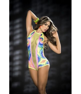Neon blacklight bodysuit