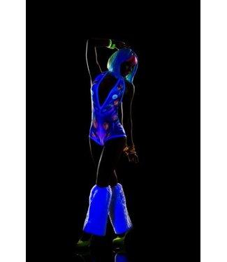Blacklight bodysuit met print
