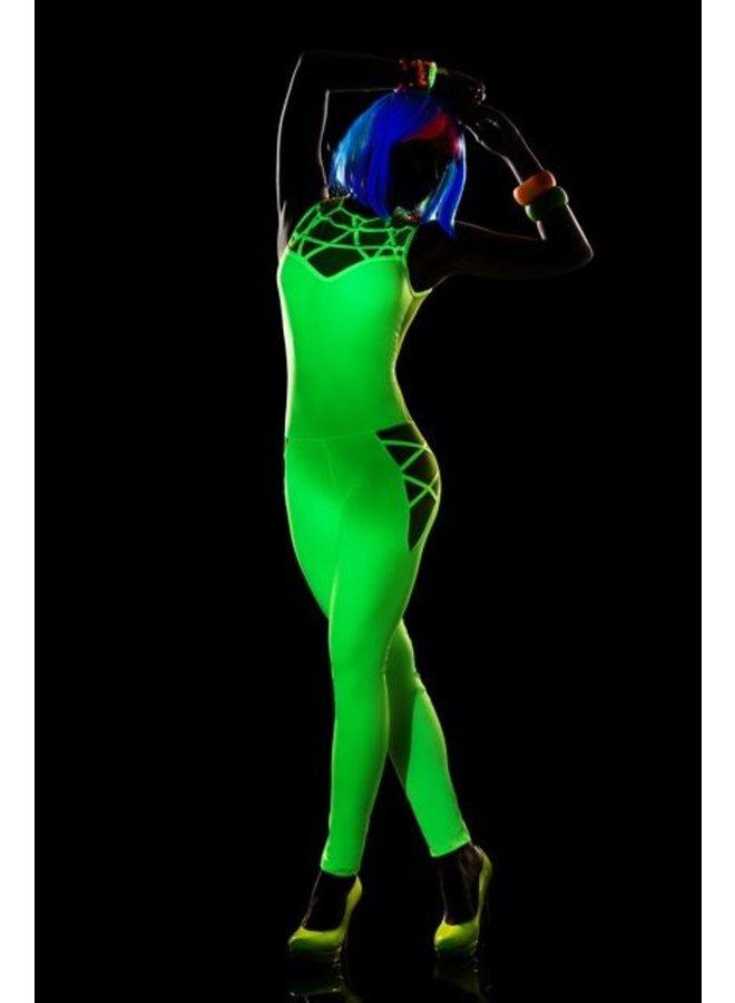 Strak hot green jumpsuit