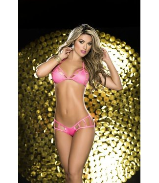 Espiral Lingerie Sexy black-light bikini hot pink