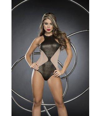 Espiral Lingerie Bodysuit metallic/nude