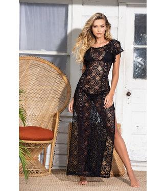 Mapalé Zwarte lange (strand)jurk