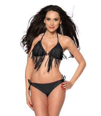 Fringe bikini zwart