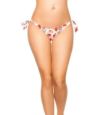 Bikini broekje (wit/bloemen)