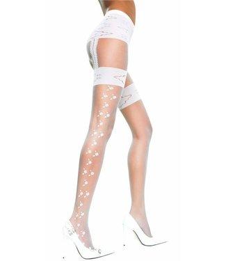 Music Legs Panty met opdruk (zwart)