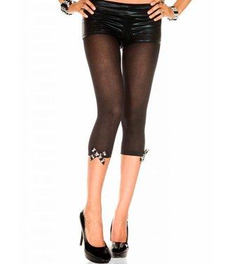 Music Legs Korte legging met doodshoofd-strikjes