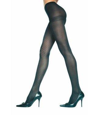 Music Legs Zwarte glitter panty