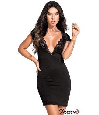 Mapalé Zwart jurkje met kant