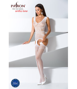 Passion Jarretel-look bodystocking (wit)