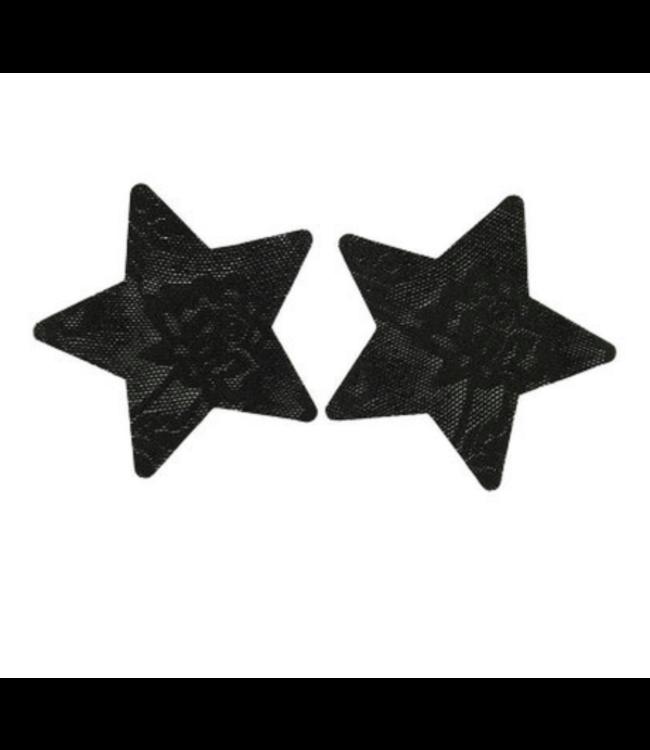 Tepelplakkers zwart kant (ster)
