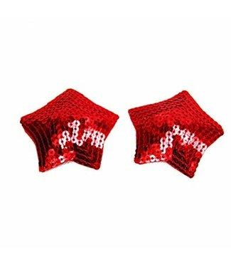rode tepelplakkers met pailletten (ster)