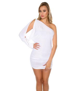 Wit asymmetrisch jurkje