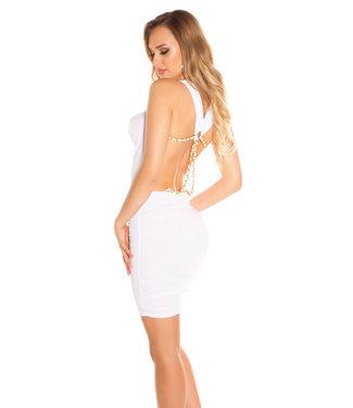 Wit jurkje met open rug