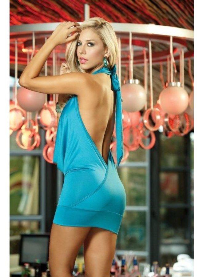 Sexy turquoise waterval jurkje