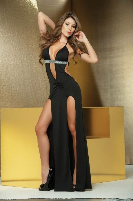 sexy split jurk