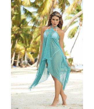 Turquoise zomerse strand jurk/rok