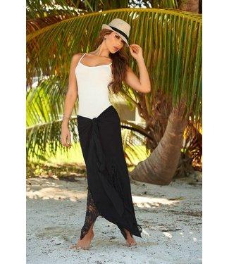 Zwarte lange rok