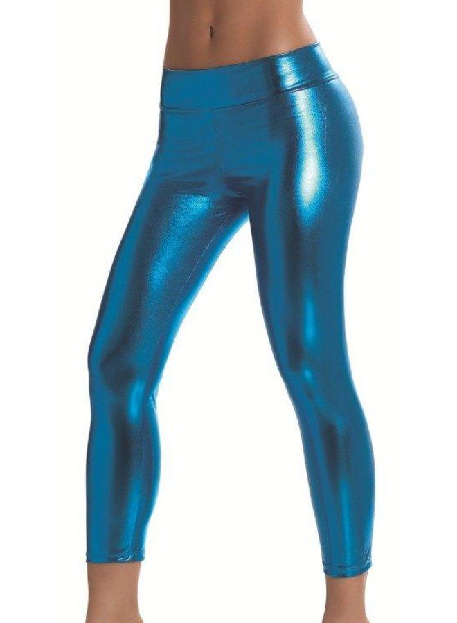 Metallic blue legging