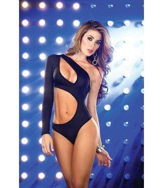 Sexy open bodysuit (zwart)