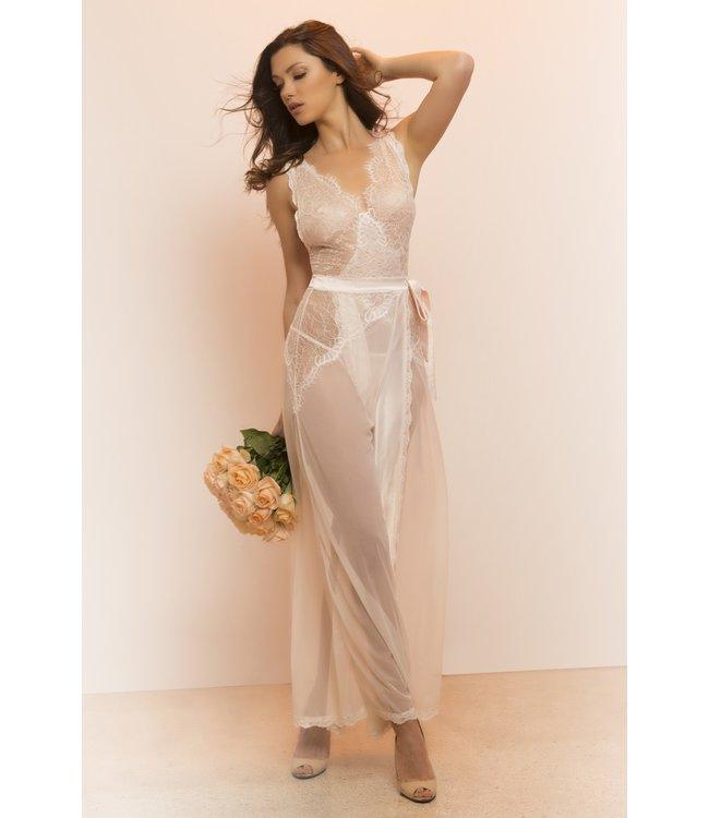 Oh La La Cheri Roze lange lingerie jurk