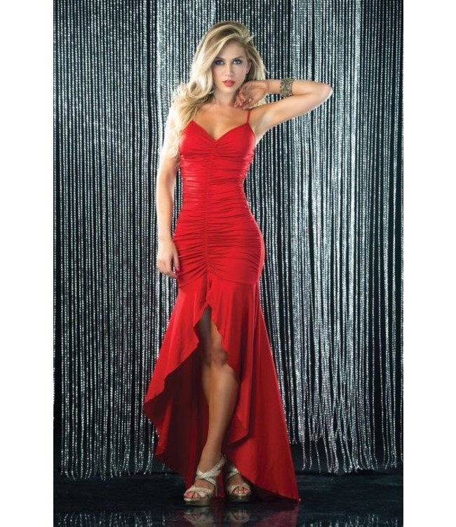 super populair beste plaats best aardig Sexy lange rode jurk