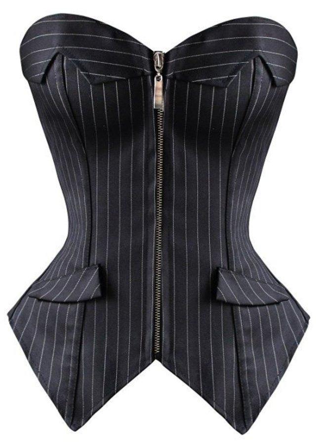 Krijtstreep corset