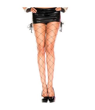 Music Legs Grove netstof panty (zwart)