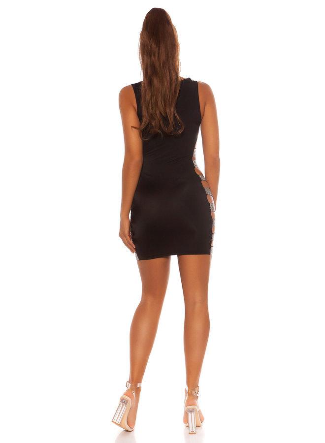 Zwart jurkje met strass