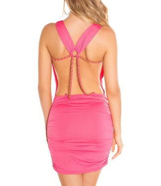 Roze jurkje met open rug