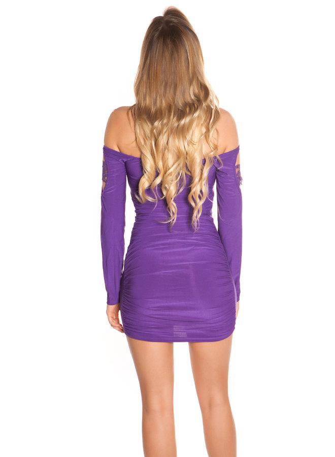 Paars jurkje met lange mouw