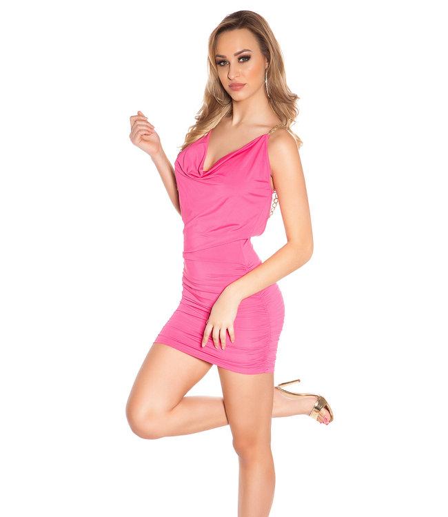 Roze waterval jurkje