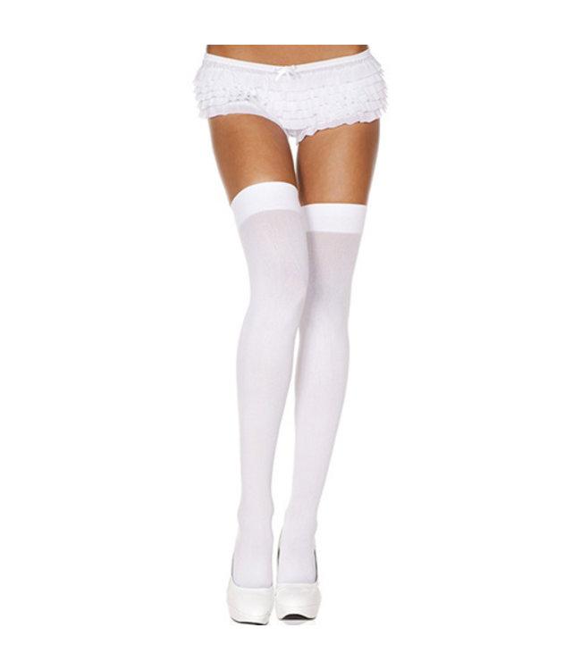 Music Legs Eenvoudige witte kous