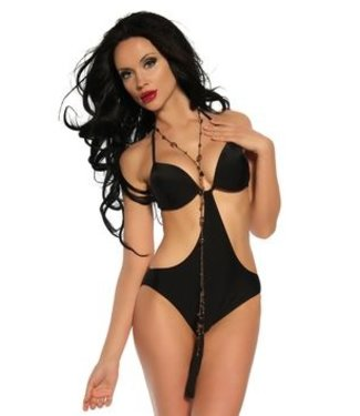 Zwarte push-up monokini