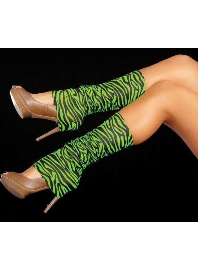 Beenwarmers Zebra groen