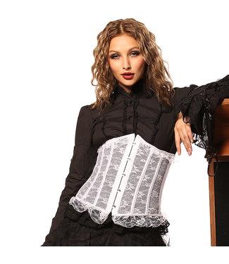 Corsetten Wit underbust corset met motief (kant)