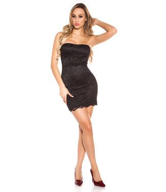 ClassyWear Mini-jurkje met kant