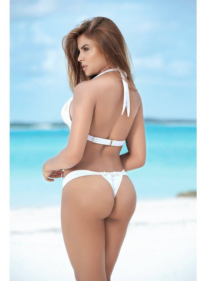 Halter bikini top (wit)