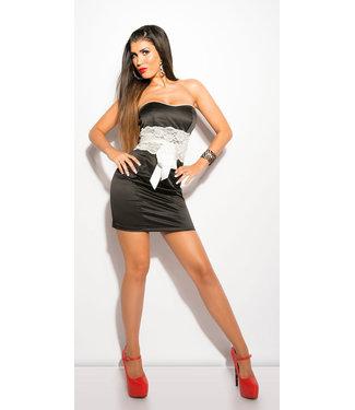 ClassyWear Sexy zwart bandeau minidress