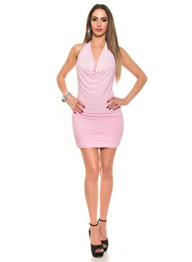 Roze waterval mini jurkje