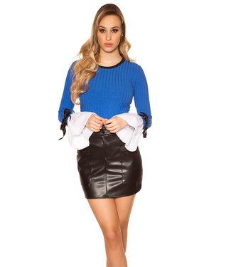 ClassyWear Blauwe vintage trui